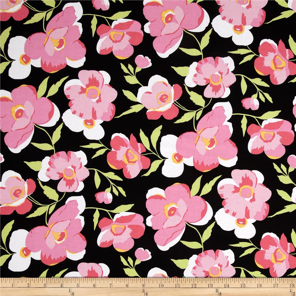 Fashion Plate Large Floral Black