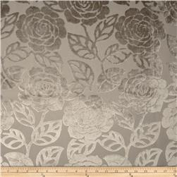 KasLen Cut Velvet Floral Oyster