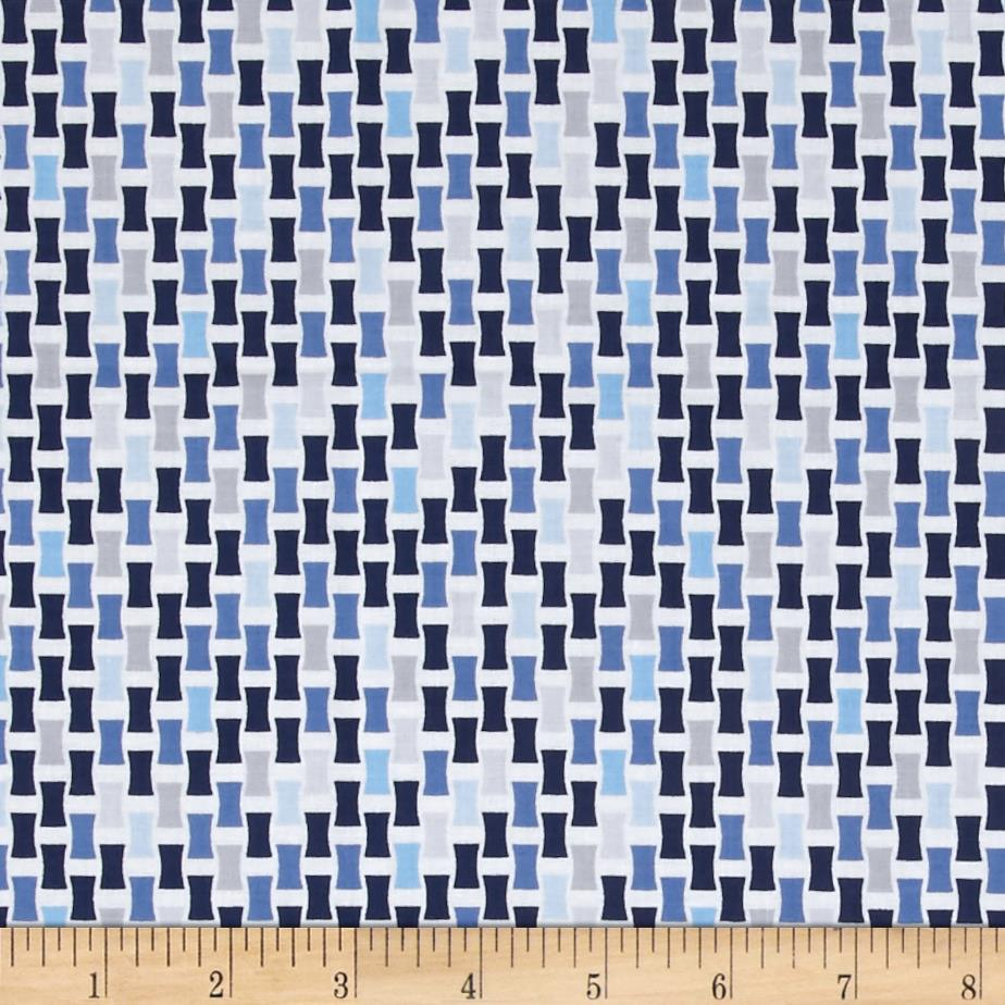Baby Boutique Checkerboard Weave Navy/Blue