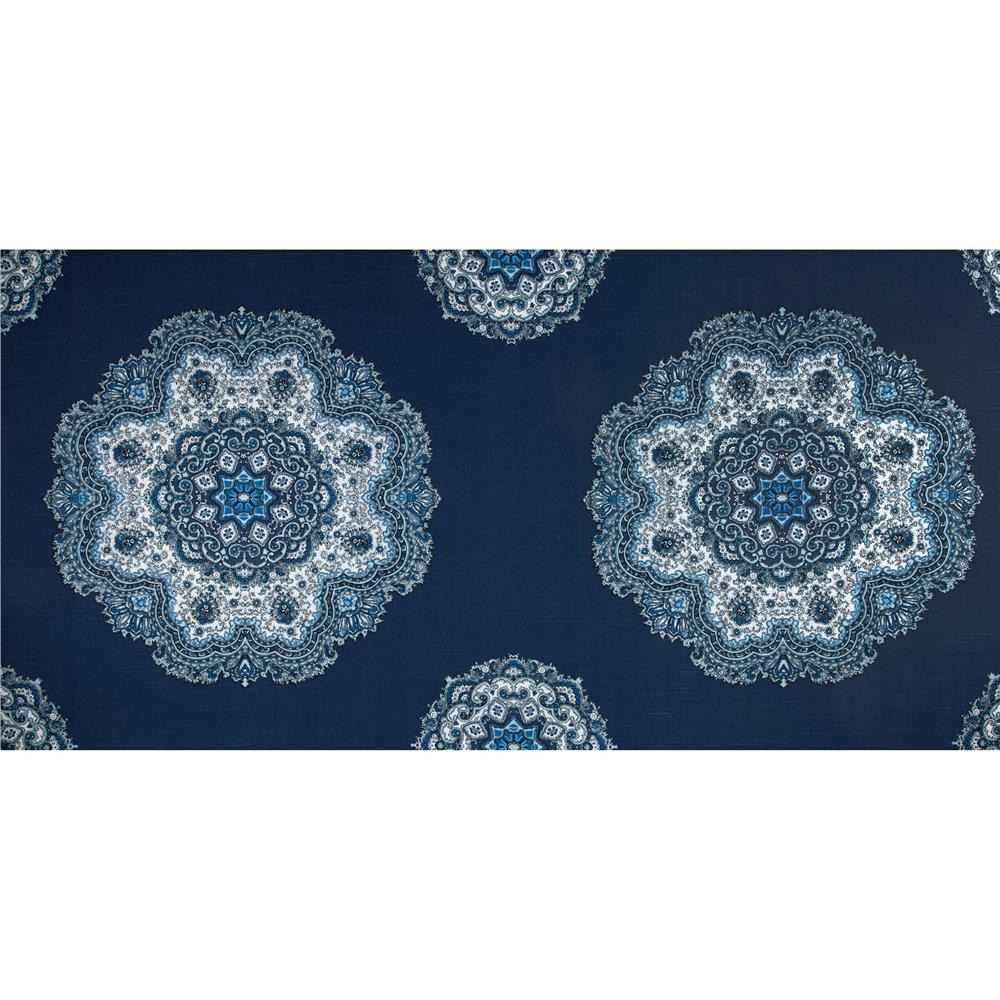 Home Accents Casablanca Damask Slub Baltic Blue