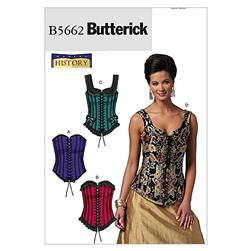 Butterick Misses' Corsets Pattern B5662 Size A50