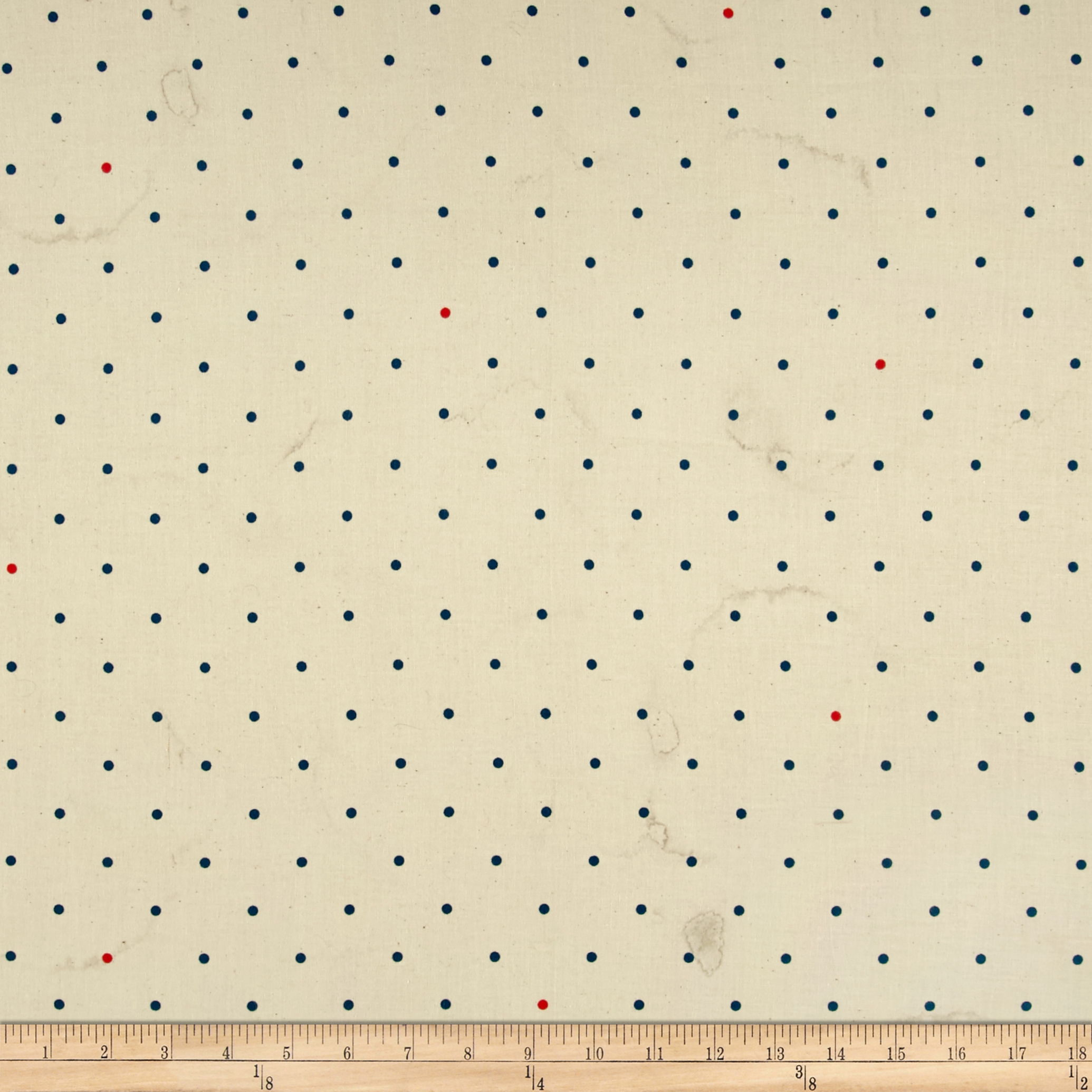 Cotton & Steel Bluebird Tea Stained Dots Ivory Fabric by Cotton & Steel in USA