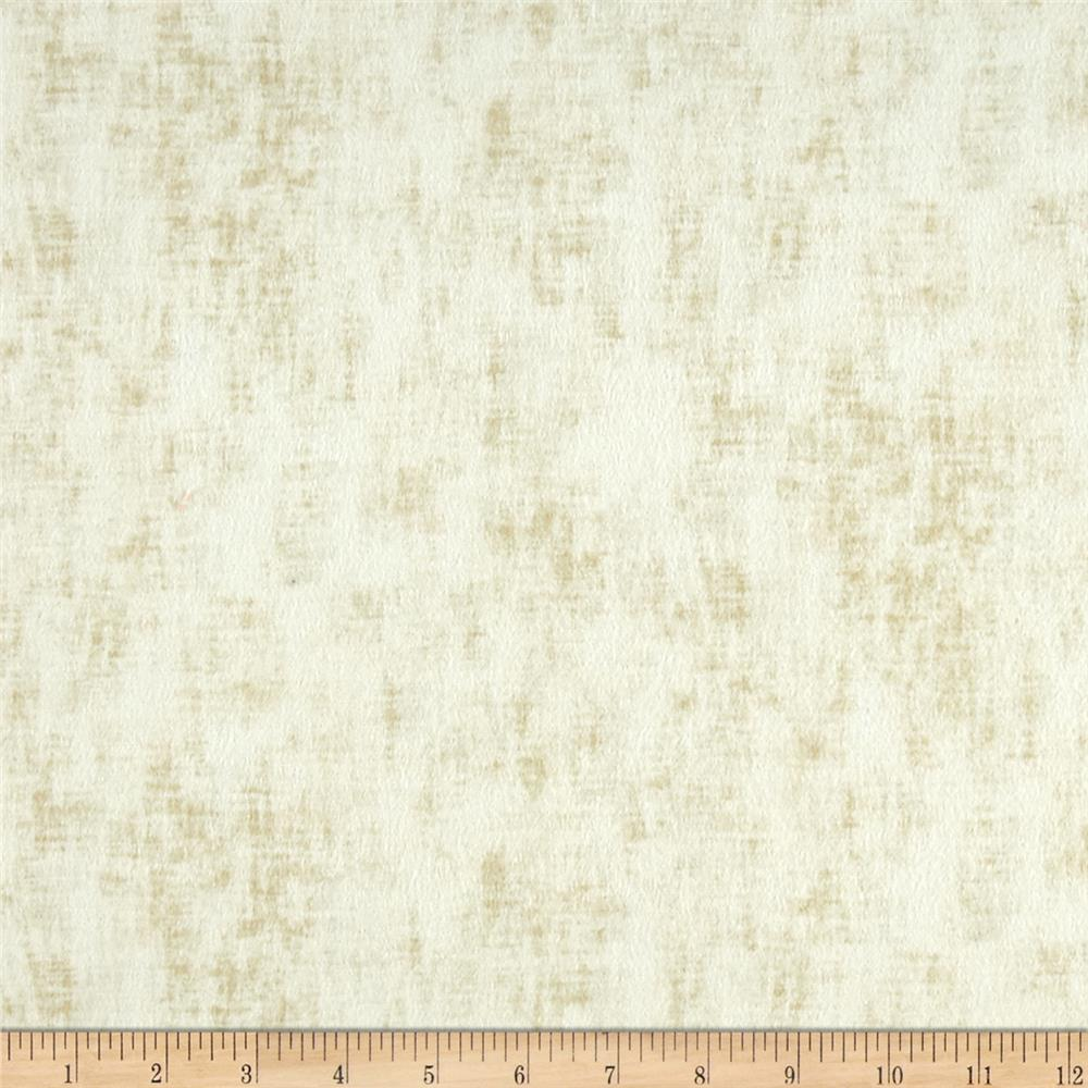 Timeless Treasures Flannel Studio Texture Ivory Fabric By The Yard