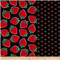 Seven Islands Strawberry Border Print Black