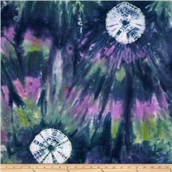 Indian Batik Wind Cave Circles Sage/Lavender