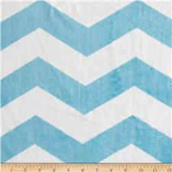 Minky Chevron Light Blue/White Fabric