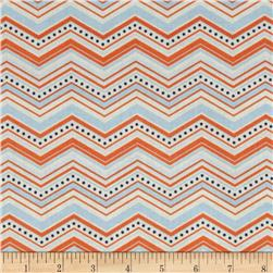 Riley Blake One For The Boys Chevron Orange