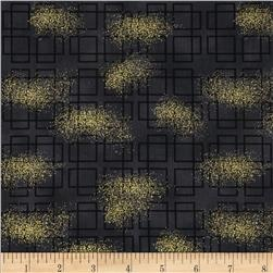 Oriental Traditions Metallic Plaid Charcoal