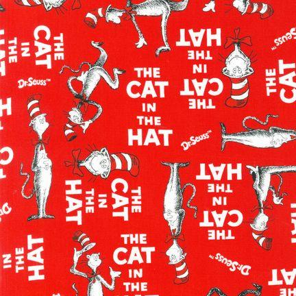 The Cat In The Hat Minky Cuddle Cat Walk Red