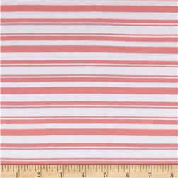 Stretch Rayon Poly Jersey Knit Yarn Dyed Stripe