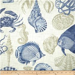 Tempo Indoor/Outdoor Ocean Life Blue Fabric