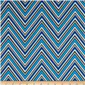 Georgette Home Decor Chevron Blue/Brown