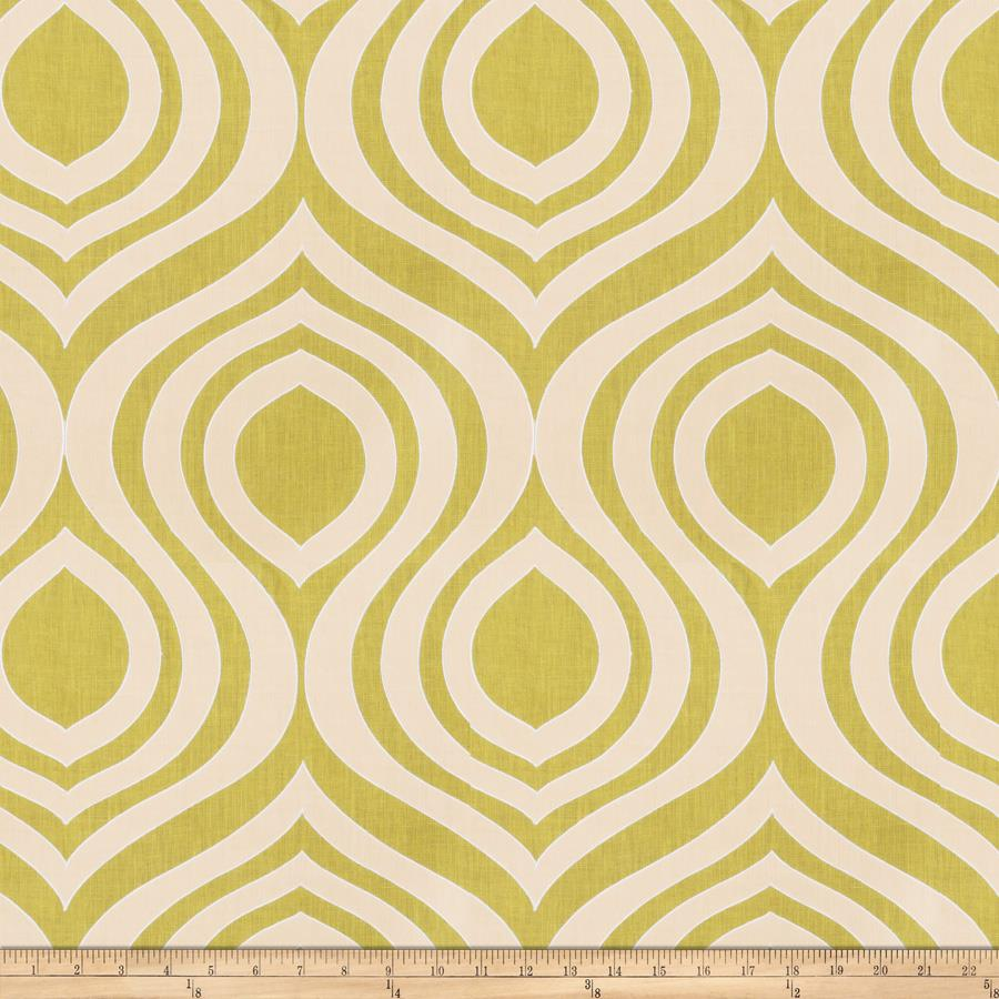 Keller Embroidered Jaime Ogee Linen Lime
