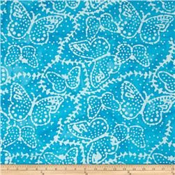 Indian Batik Sarasota Butterfly Aqua