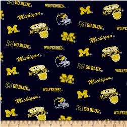 Collegiate Cotton Broadcloth University of Michigan Blue