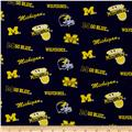 Collegiate Cotton Broadcloth University of Michigan Wolverine