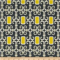 Michael Miller Pastel Pop Citron Gray Flannel Lauren Citron