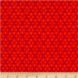 Kanvas Knitty Kitty Flannel Diamond Knit Orange