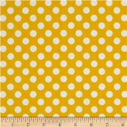 Polka Dot Yellow Fabric