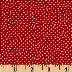 Mini Confetti Dot Scarlet Fabric