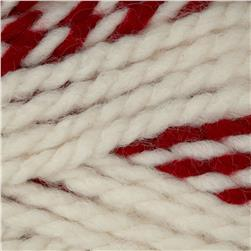 Lion Brand Wool Ease Thick & Quick Stripes Yarn Red Beacon