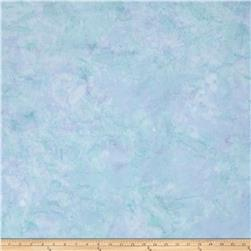 Island Batik Swirl Dot Light Blue
