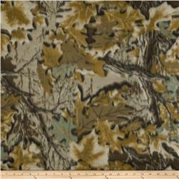 Camouflage Fleece Leaves Coffee/Brown/Black/Cream