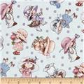 Sunbonnet Emma & Friends Tossed Blue