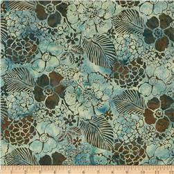 Bali Batiks Handpaints Mixed Floral Seafoam