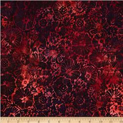 Robert Kaufman Artisan Batiks Blossom Medium Flower Poppy