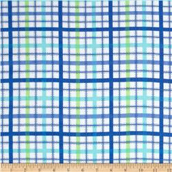 Newcastle Flannel Ticking Plaid Flannel Blue Fabric