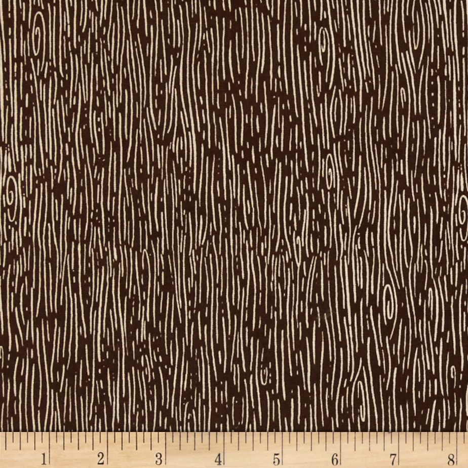 Nutmeg Wood Grain Brown Fabric