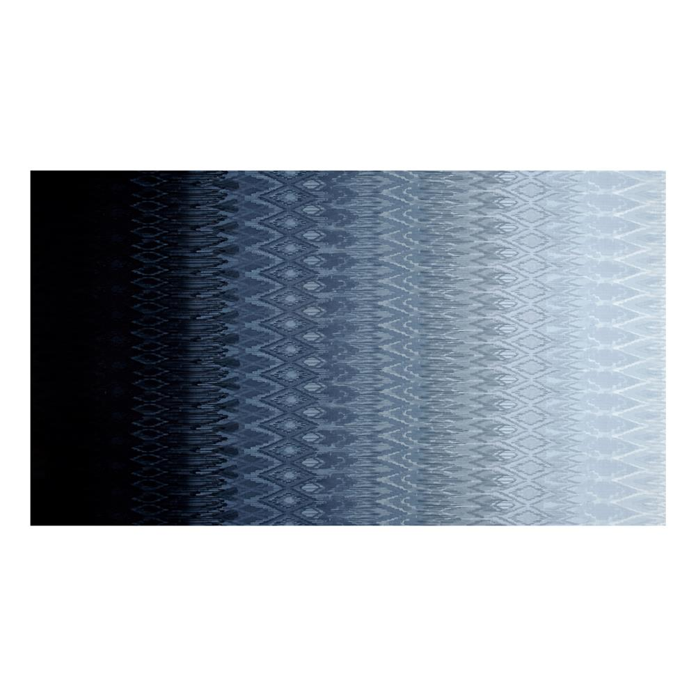 Radiant Gradients Ikat Ombre Black