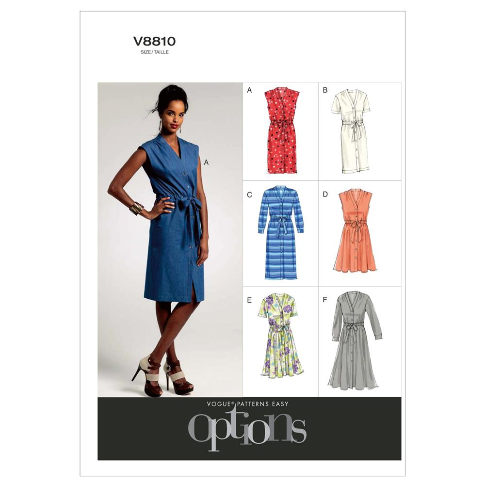 Vogue Misses'/Misses' Petite Dress and Belt Pattern V8810