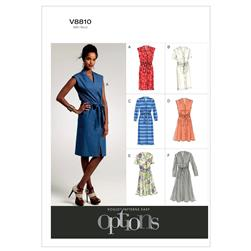 Vogue Misses'/Misses' Petite Dress and Belt Pattern V8810 Size B50