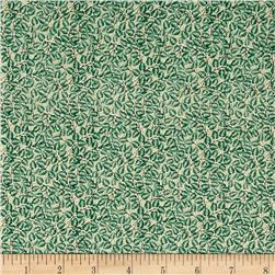 Windsor Woods Leaf Print Cream/Green