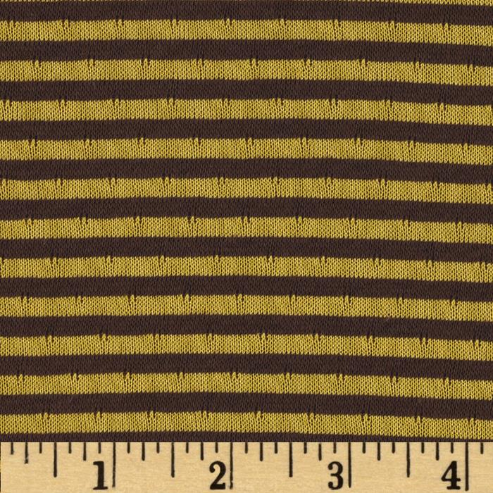 2-Sided Double Knit Stripes Brown/Yellow