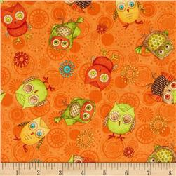Fall Fun Tossed Owls Orange