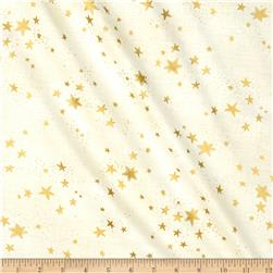 Laurel Burch Enchantment Metallic Stars Cream
