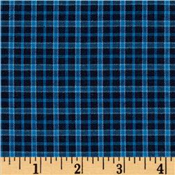 Winter Games Small Woven Yarn Dyed Plaid Blue
