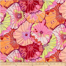 Kaffe Fassett Collective Lotus Leaf Red Fabric
