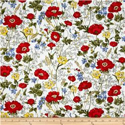Timeless Treasures Posey Floral White