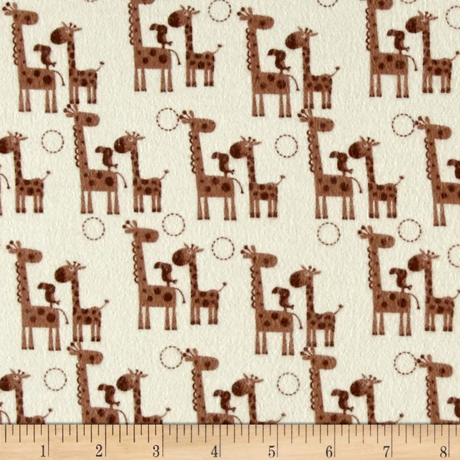 Riley Blake Giraffe Crossing 2 Flannel Giraffes Brown Fabric