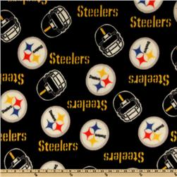 NFL Fleece Pittsburgh Steelers Black Fabric