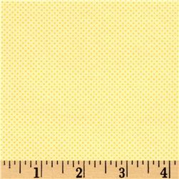 Timeless Treasures Pin Dot Lemon