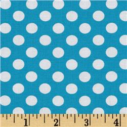 Kaufman Spot On Medium Dot Turquoise