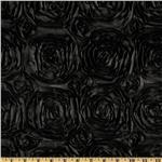 Splenda Satin Ribbon Rosette Black