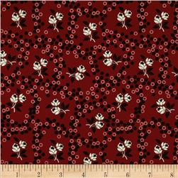 Scarlet Evening Flower Dots Red