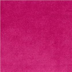 Cotton Poly Terry Velour Knit Fucshia Fabric