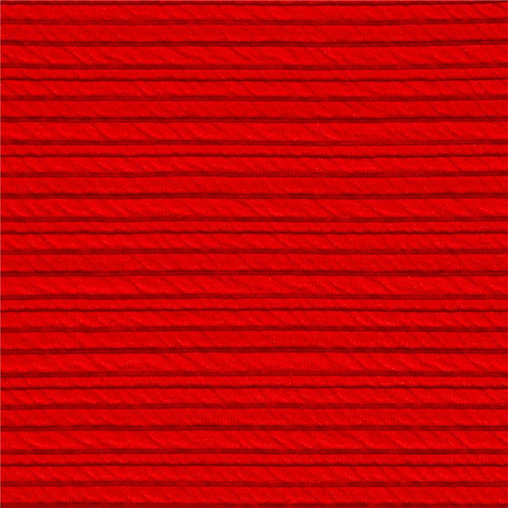 Ottoman Double Knit Solid Coral